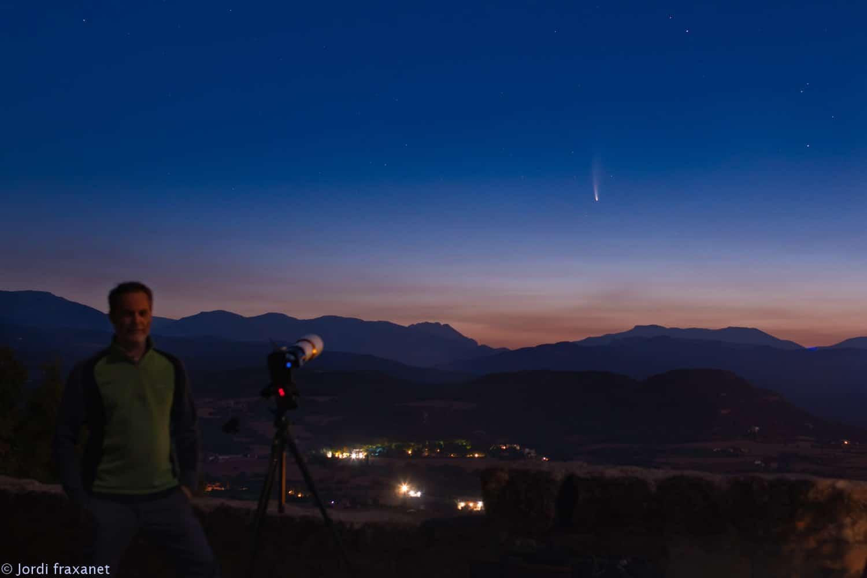 Cometa C/2020 F3 NEOWISE selfie gran campo 11/07/20