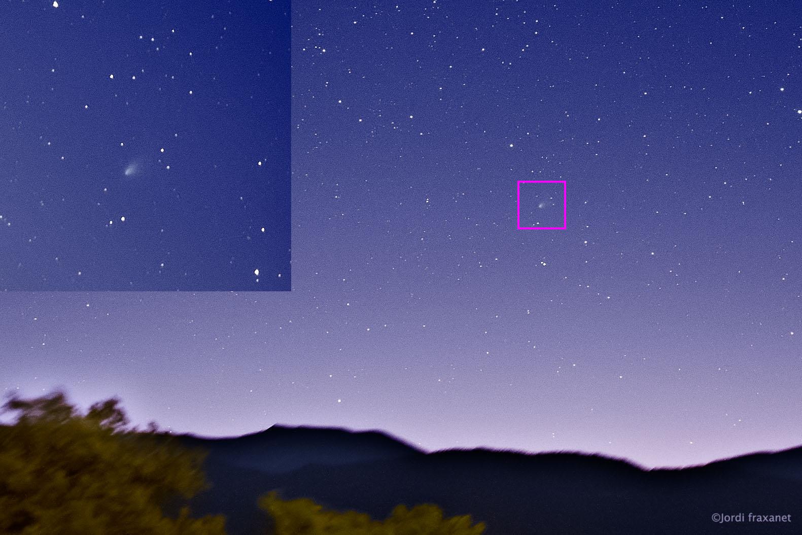Cometa C/2020 F8 SWAN gran campo y detalle el 18/05/20