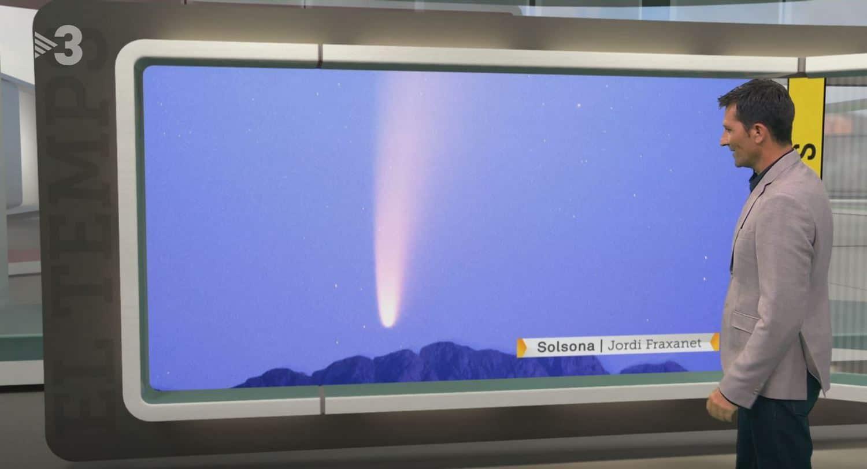 Cometa C/2020 F3 NEOWISE telescopio en TV3 el 11/07/20