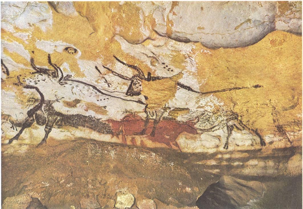 Pinturas en la cueva de Lascaux