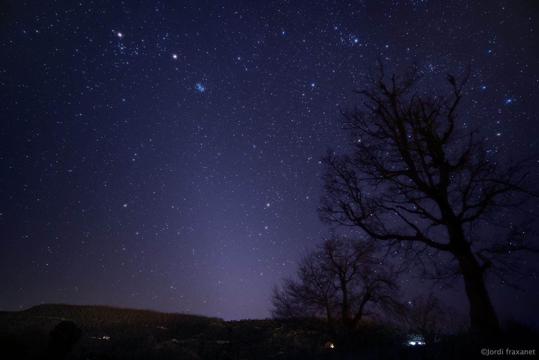 Luz zodiacal de primavera desde mi municipio tomada el 13/03/21