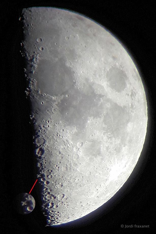 La X y la V lunar, efecto claroscuro
